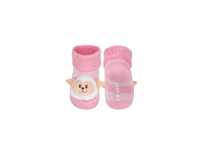 Kojenecké chrastítkové ponožky SOXO OVEČKA