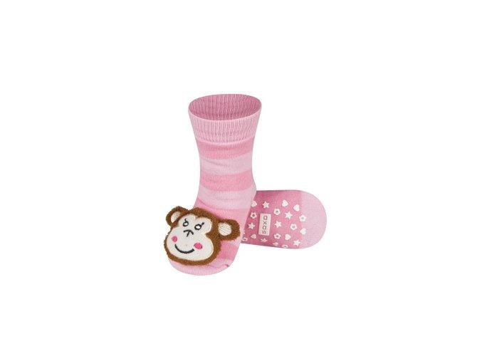 Dětské chrastítkové ponožky SOXO OPICE
