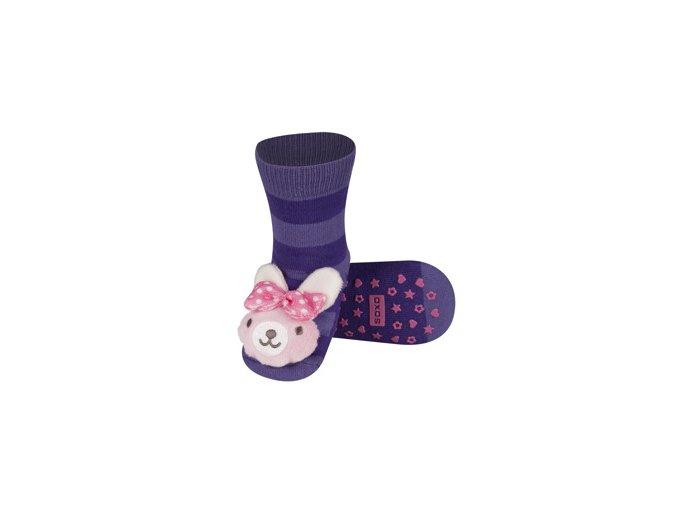 Dětské chrastítkové ponožky SOXO ZAJÍČEK