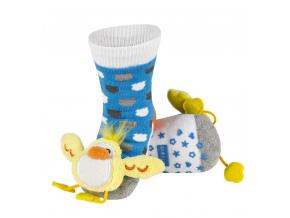 Dětské chrastítkové ponožky SOXO KUŘÁTKO