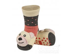 Dětské chrastítkové ponožky SOXO MÉĎA