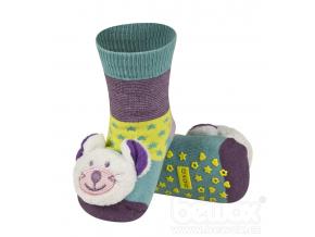 Dětské chrastítkové ponožky SOXO MYŠ