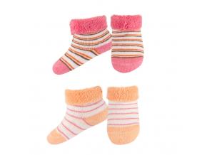 Kojenecké froté ponožky SOXO 2 páry růžové