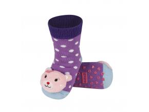 Dětské chrastítkové ponožky SOXO KOČIČKA