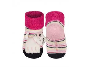 Kojenecké chrastítkové ponožky SOXO KOČIČKA