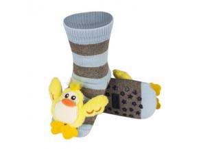 Dětské chrastítkové ponožky SOXO KAČENKA