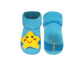 Kojenecké chrastítkové ponožky SOXO HVĚZDA