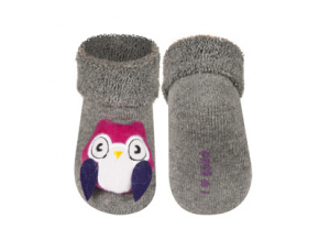 Kojenecké chrastítkové ponožky SOXO SOVA