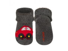 Kojenecké chrastítkové ponožky SOXO AUTÍČKO