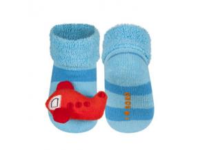 Kojenecké chrastítkové ponožky SOXO LETADLO