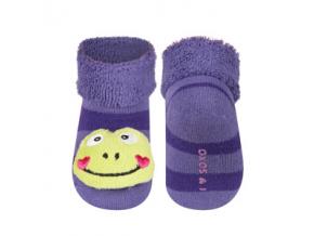 Kojenecké chrastítkové ponožky SOXO ŽABKA