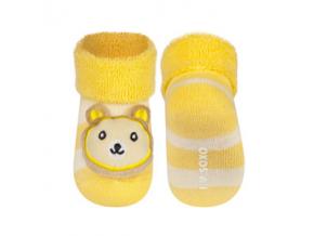 Kojenecké chrastítkové ponožky SOXO MEDVÍDEK