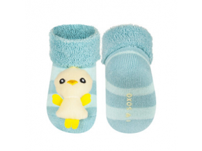 Kojenecké chrastítkové ponožky SOXO KUŘÁTKO