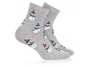 Ponožky zimní vzor WOLA SNĚHULÁCI