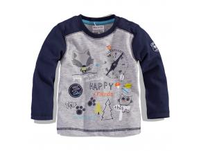 BEWOX velkoobchod Kojenecké tričko BABALUNO FOX-000005-GY3