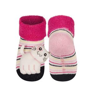 Kojenecké chrastítkové ponožky SOXO KOČIČKA 16-18