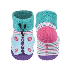 Kojenecké chrastítkové ponožky SOXO MOTÝL 16-18