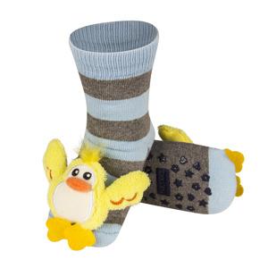 Dětské chrastítkové ponožky SOXO KAČENKA 19-21