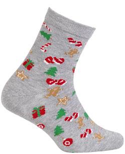 Ponožky sváteční vzor WOLA VÁNOCE 21-23