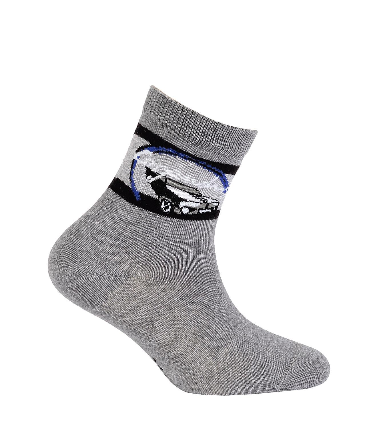 ponožky vzor WOLA AUTO LEGENDARY tmavě šedé 21-23