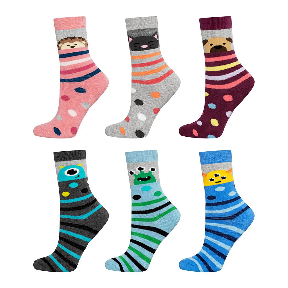 Dětské termo ponožky SOXO ANIMALS balení 6 ks