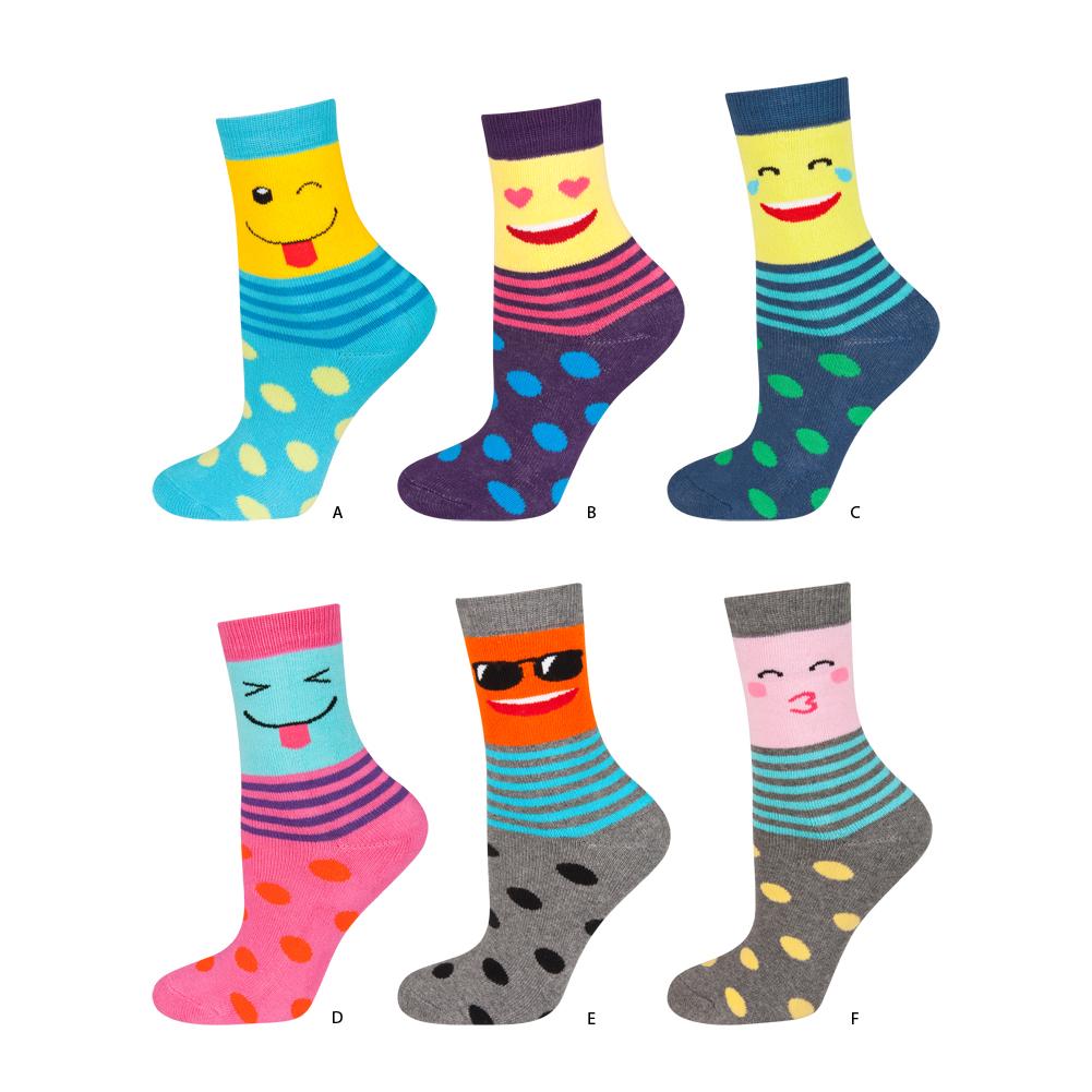 Dětské termo ponožky SOXO FACES balení 6 ks