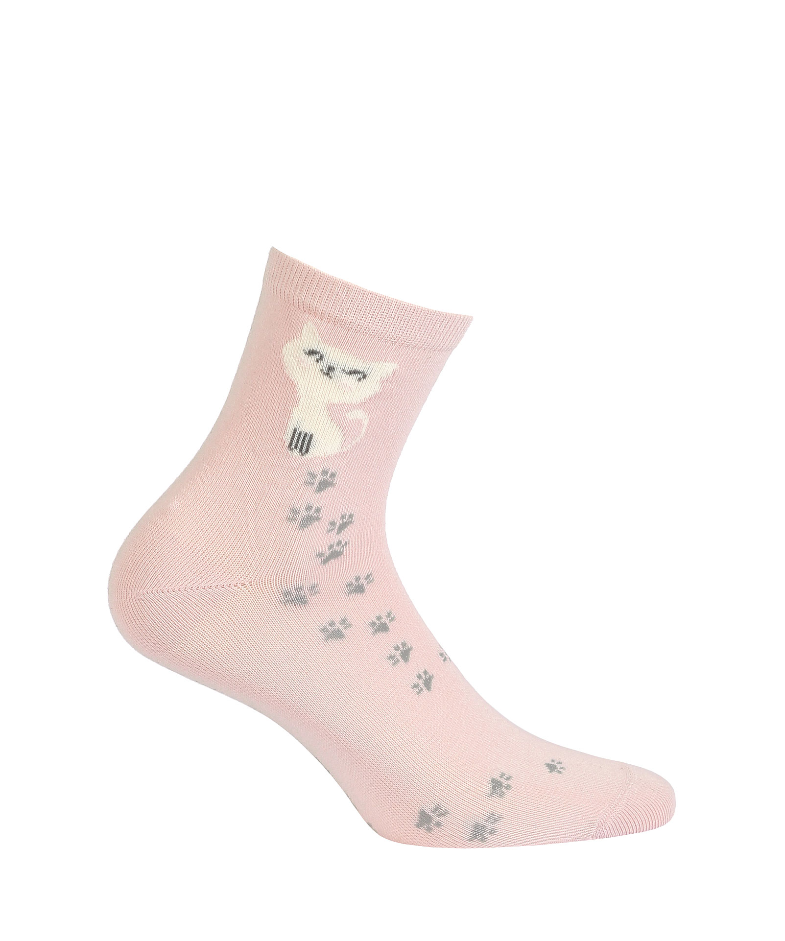 vzorované ponožky GATTA KOČIČKA růžové 36-38