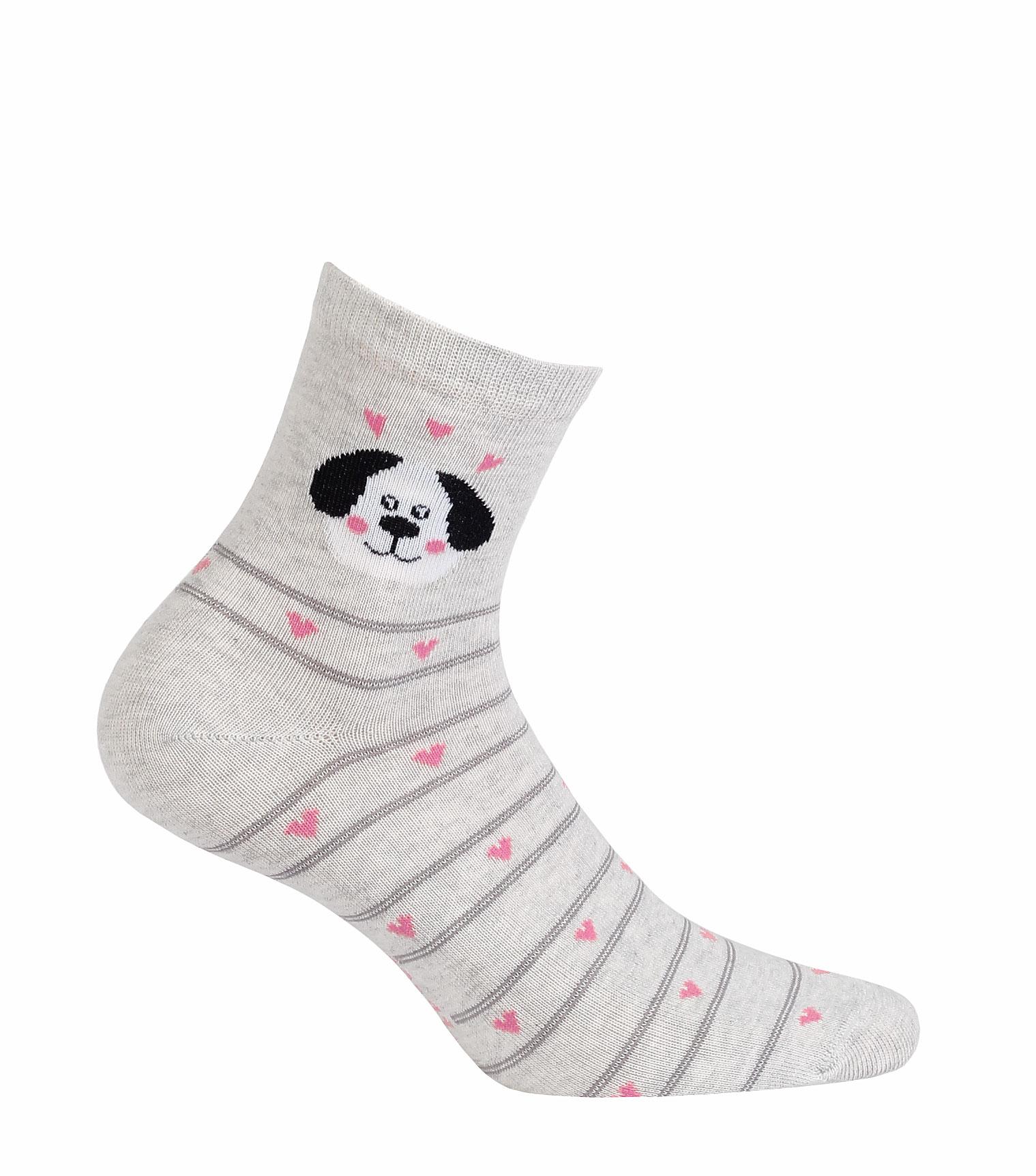 vzorované ponožky GATTA PEJSEK šedé 39-41