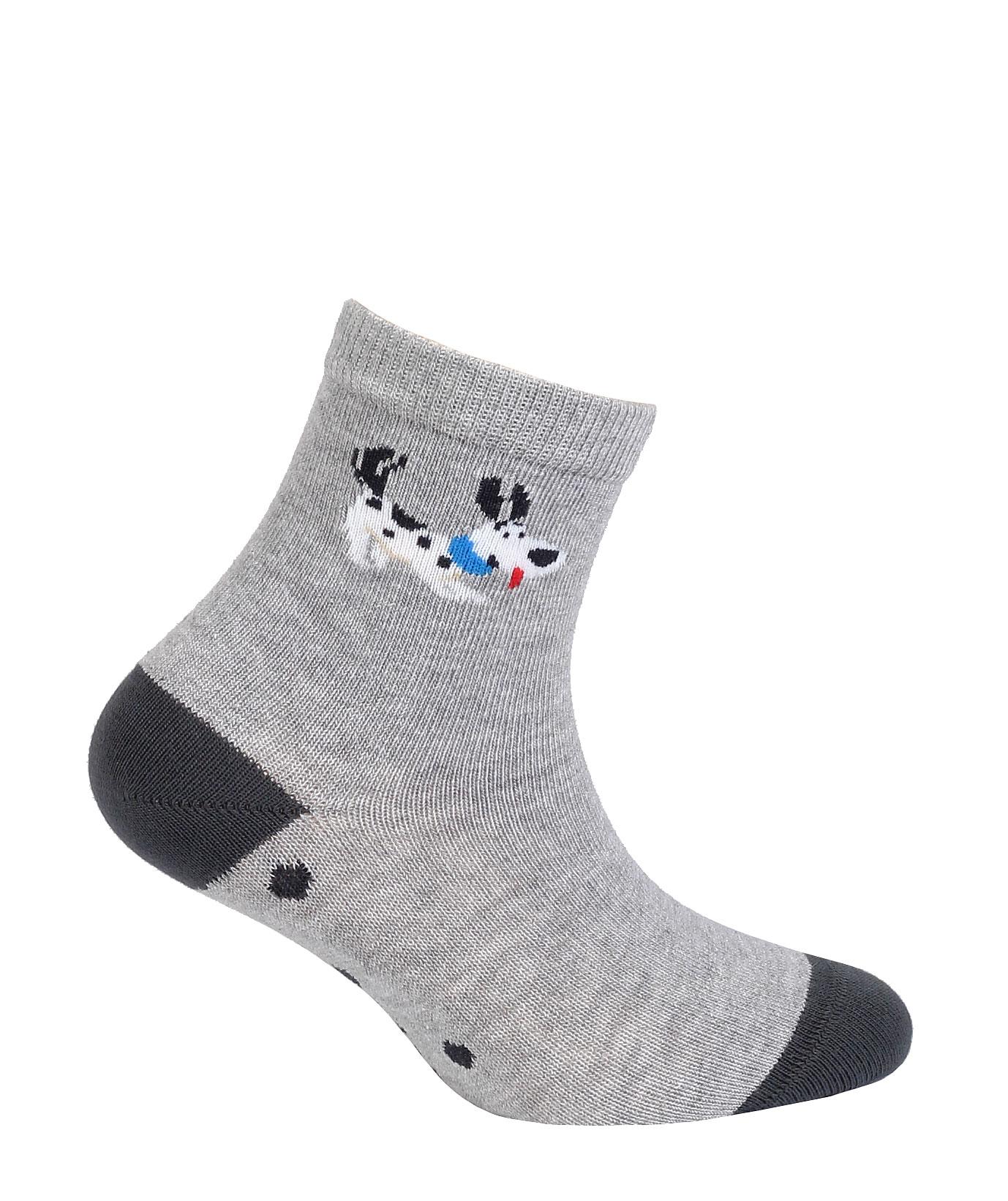 dětské ponožky vzor GATTA PEJSEK šedé 24-26