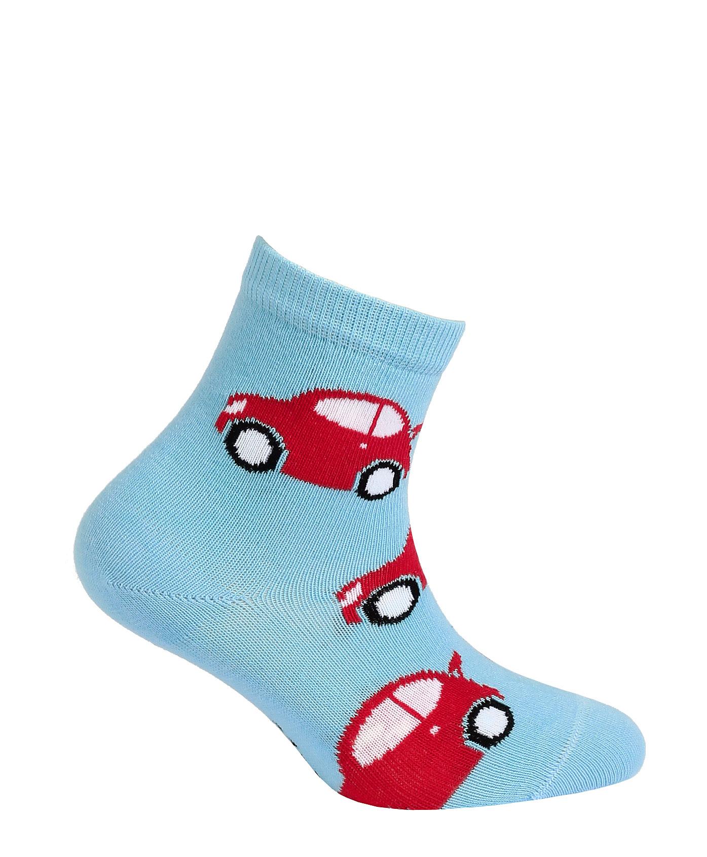 dětské ponožky vzor GATTA AUTA světle modré 21-23