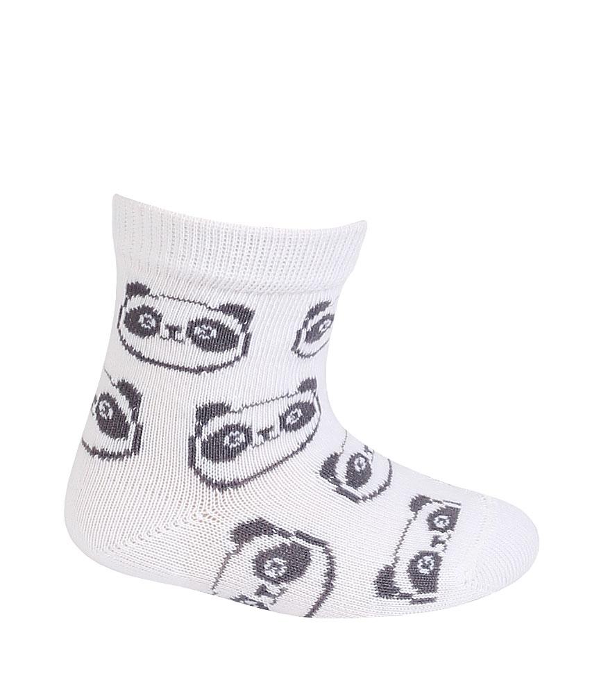 kojenecké ponožky vzor WOLA PANDY bílé 12-14