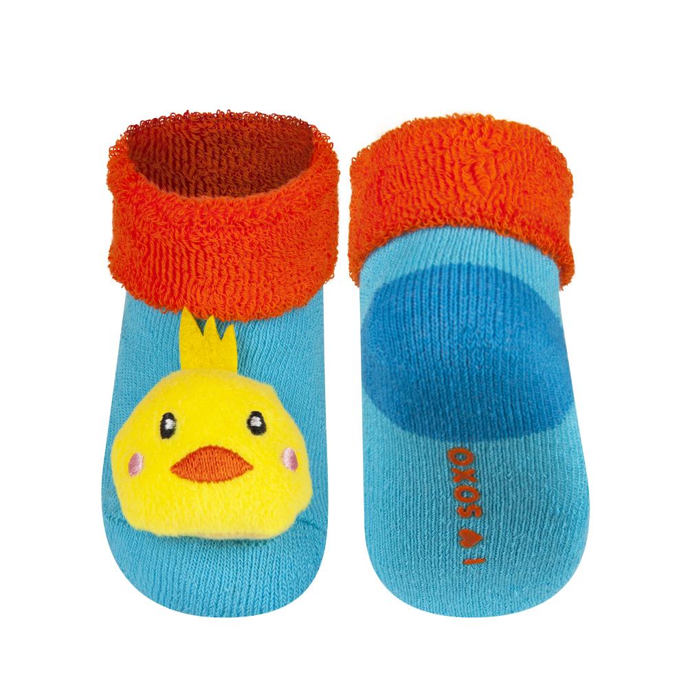 Kojenecké ponožky s chrastítkem SOXO KUŘÁTKO 16-18