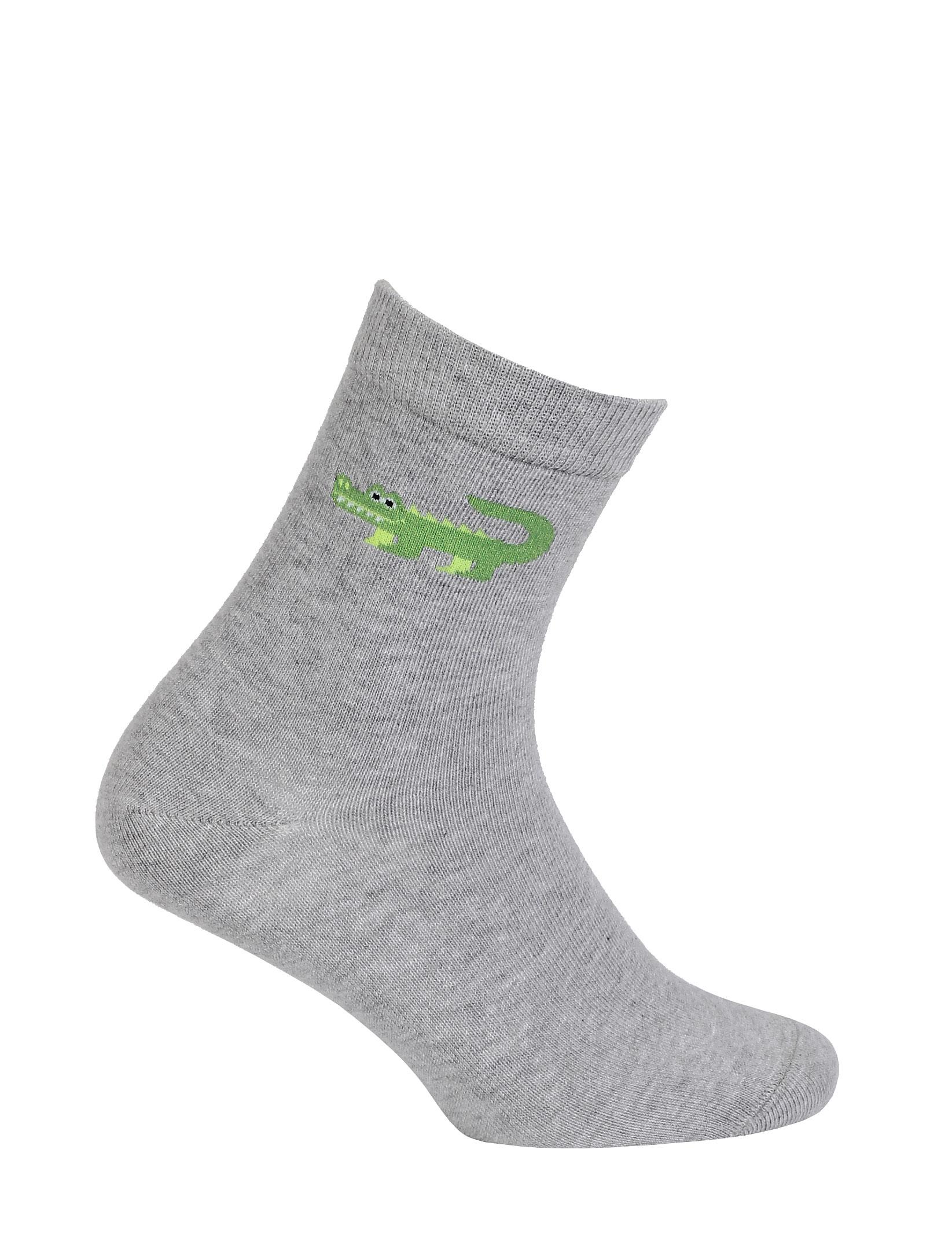 dětské ponožky GATTA KROKODÝL šedé 27-29