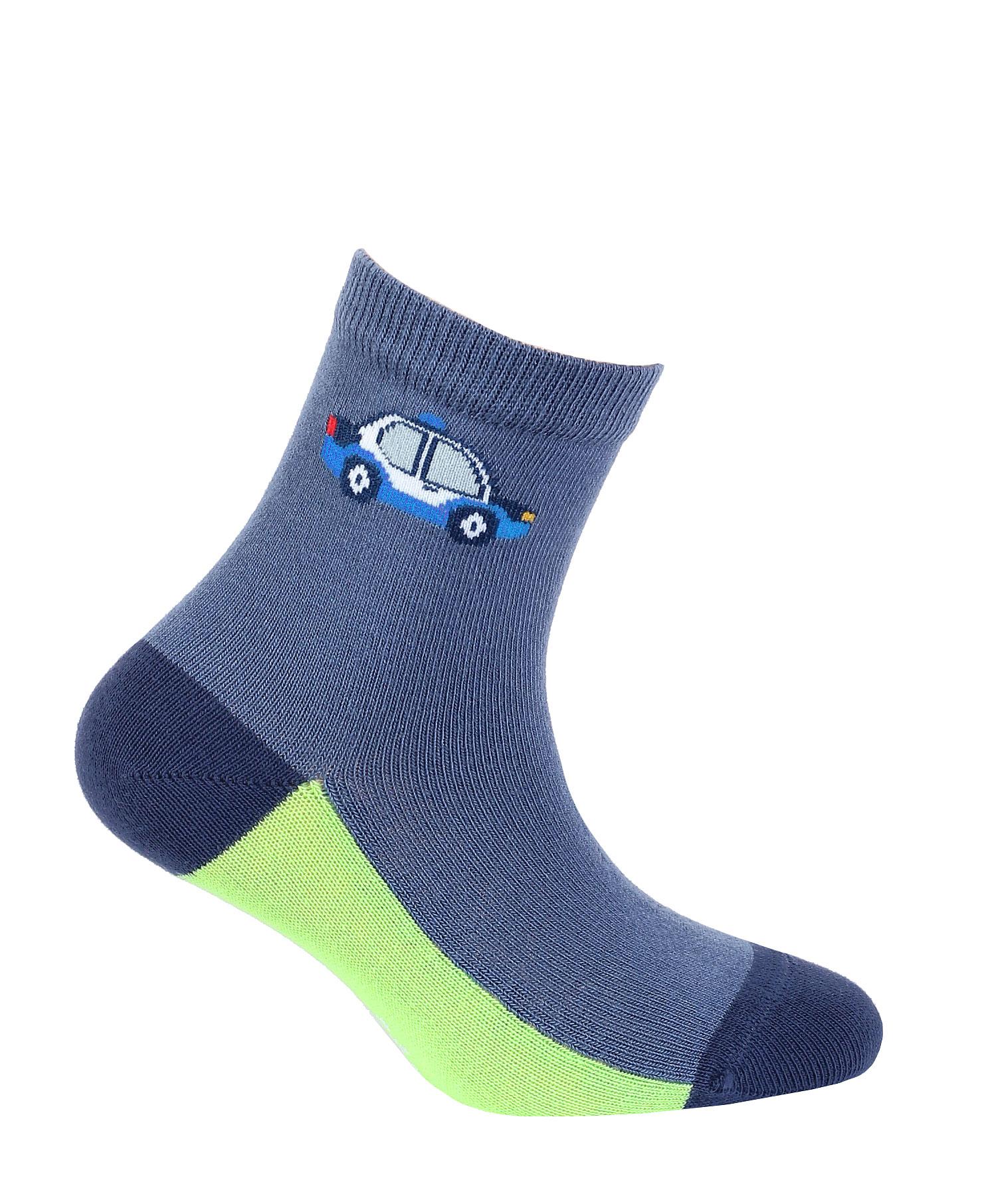 dětské ponožky vzor GATTA AUTO S MAJÁKEM modré 24-26
