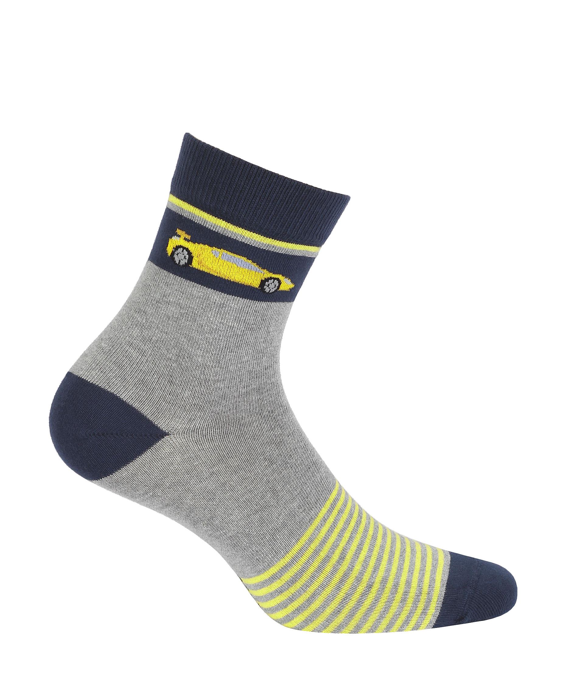 dětské ponožky vzor GATTA AUTO žluté proužky 33-35