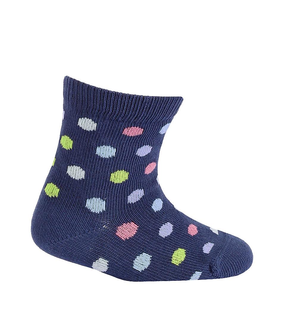 kojenecké ponožky vzor WOLA PUNTÍKY modré 12-14