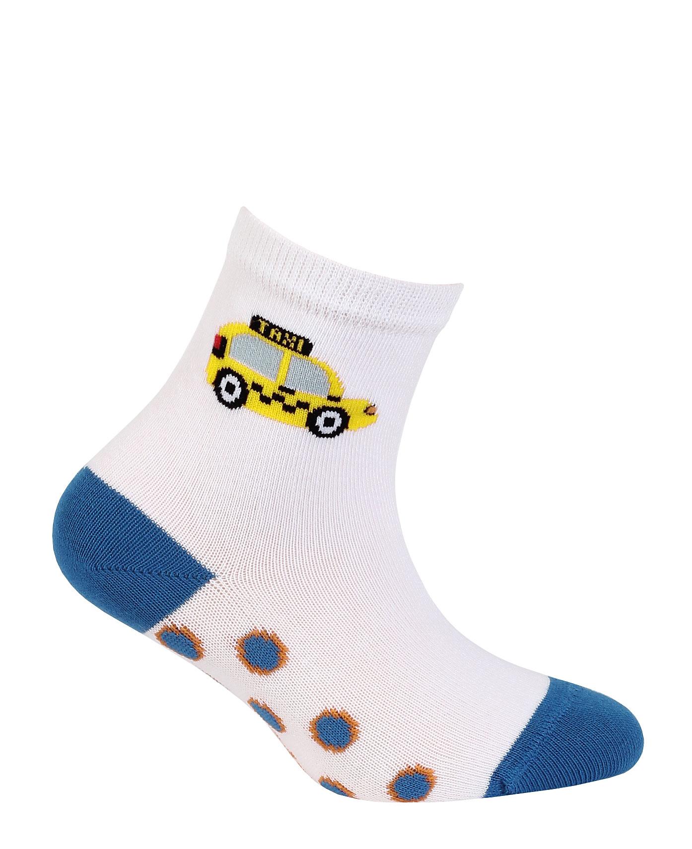 dětské ponožky vzor WOLA TAXI šedé 21-23