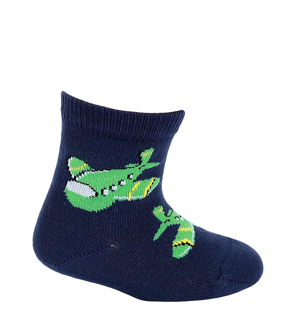 kojenecké ponožky vzor WOLA LETADLA tmavě modré 18-20