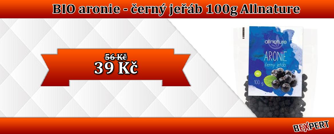 BIO ARONIE ČERNÝ JEŘÁB 100G ALLNATURE