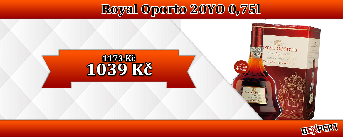 ROYAL OPORTO 20 YEARS AGED TAWNY DÁRKOVÝ BOX 0,75L