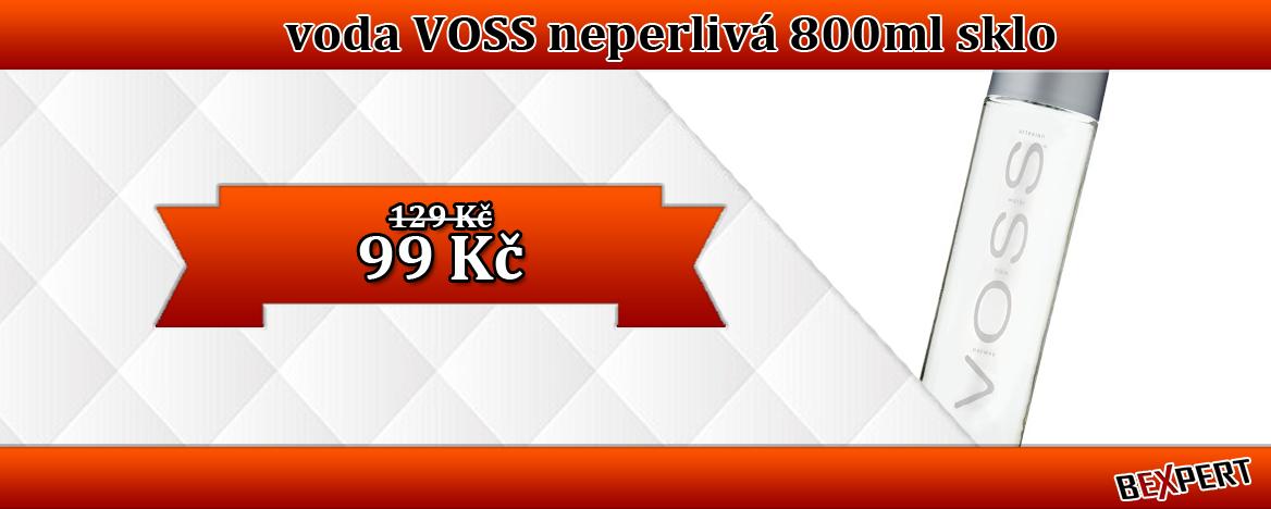 PRÉMIOVÁ VODA VOSS NEPERLIVÁ 800 ML SKLO
