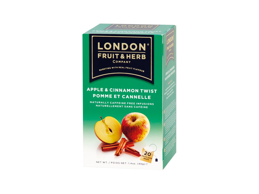 Čaj Apple Cinnamon Twist - jablko se skořicí 20 sáčků London fruit and herbs