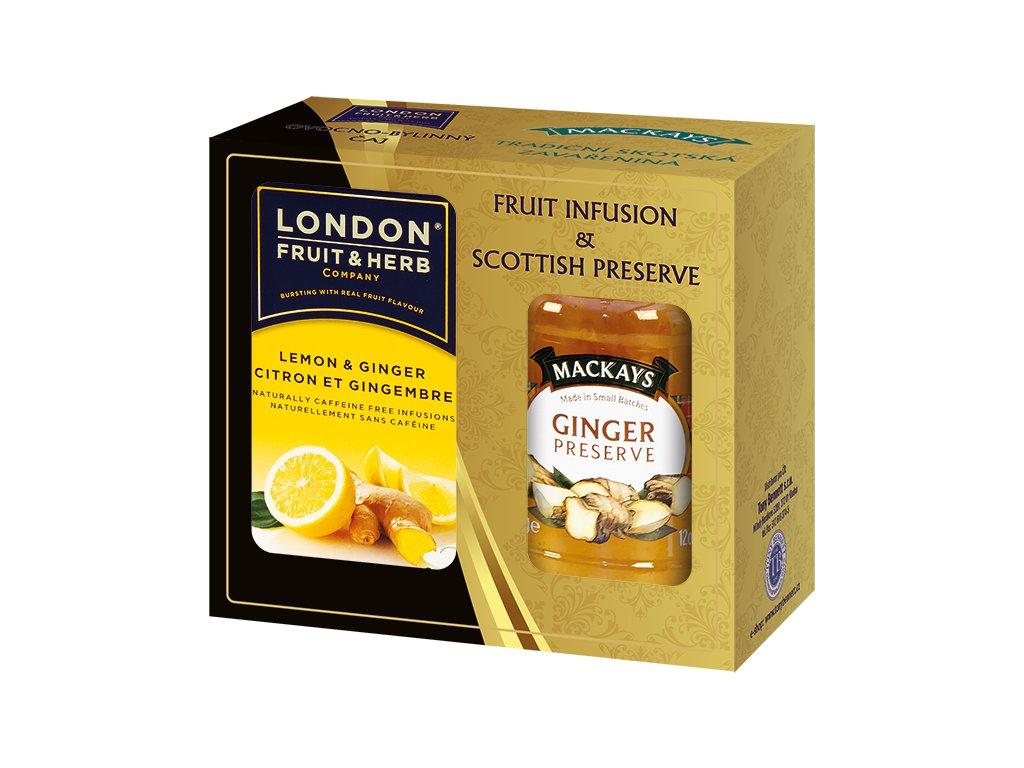 Gift Pack Lemon and Ginger - Dárková sada čaj s citronem a zázvorem a Zázvorová zavařenina