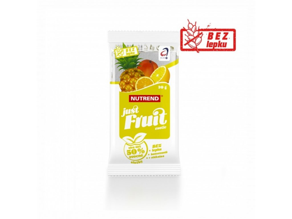 Nutrend JUST FRUIT tyčinka exotic 30g