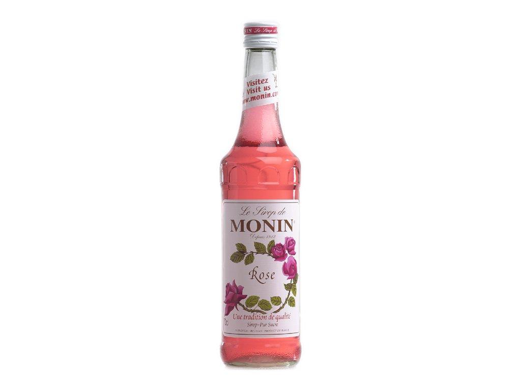Monin rose - růže 0,7 l