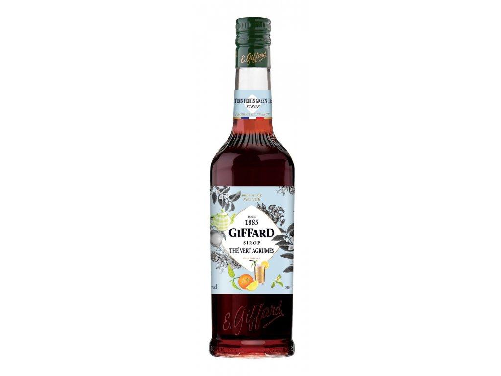 Giffard The vert agrumes - zelený čaj s citrusy sirup 0,7 l