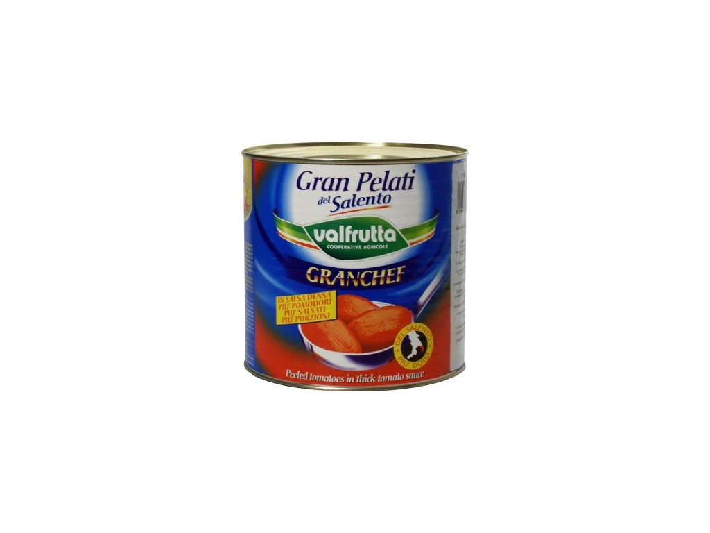 Rajčata loupaná celá 2,5 Kg Gran Pelati