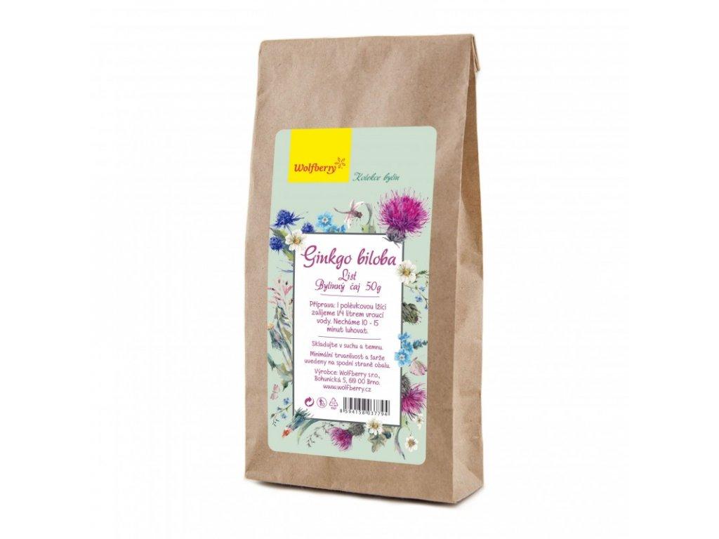 Ginkgo biloba - jinan list bylinný čaj 50g Wolfberry