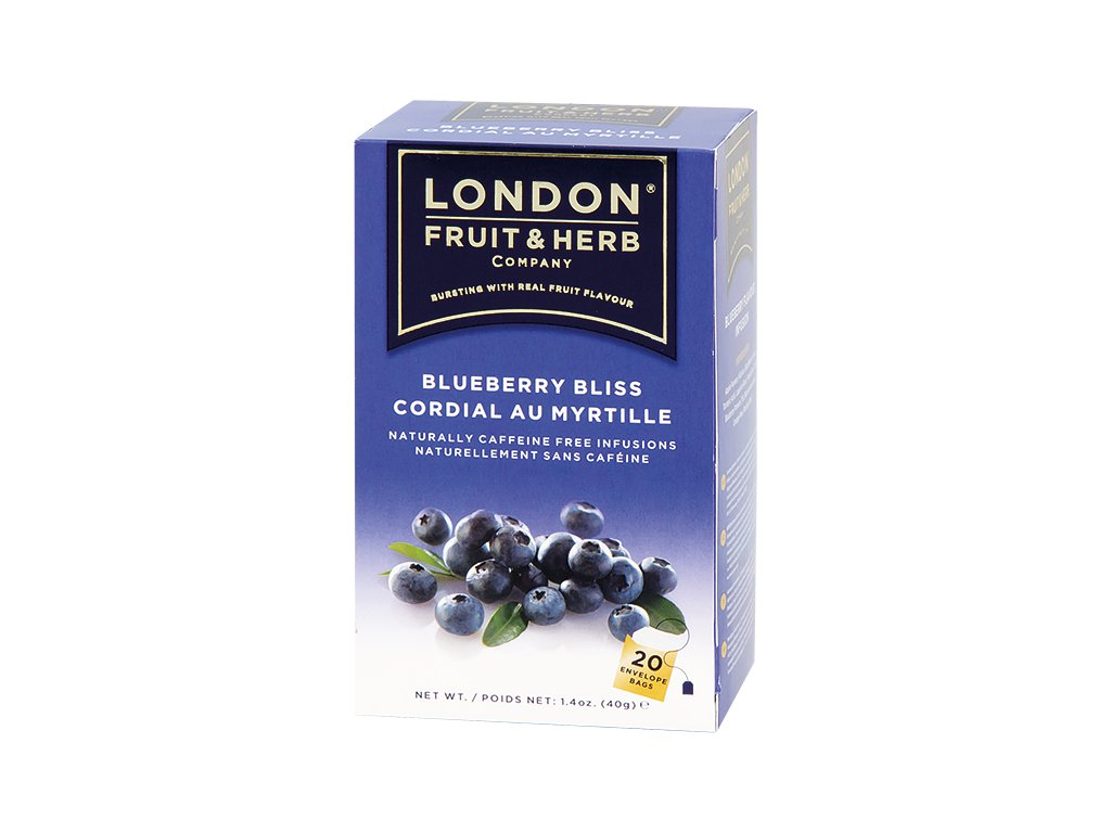 Čaj Blueberry Bliss - borůvka 20 sáčků London fruit and herbs
