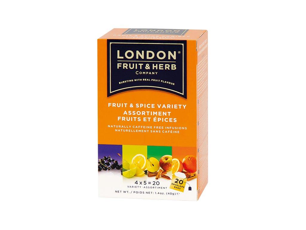 Čaj Fruit spice variety pack - ovoce a koření variace 20 sáčků London fruit and herbs